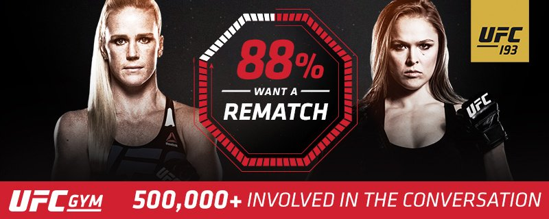 Ronda & Holly rematch results are in! See the verdict & train FREE @UFCGYM https://t.co/3yFTjaK47n #UFC193 #UFC https://t.co/d3su9MGROS