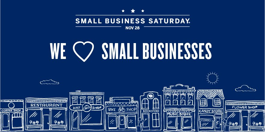 We're proud to show our love for small businesses on #SmallBizSat & throughout the year. Get up. Get out. #ShopSmall https://t.co/3LFzrtKihh