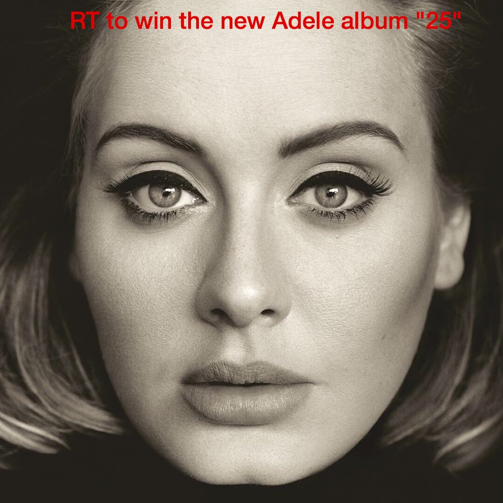"So...want the @Adele album ""25""?!?!? RT to register... - @HunterOnAir https://t.co/Xk1LGbw2c3"