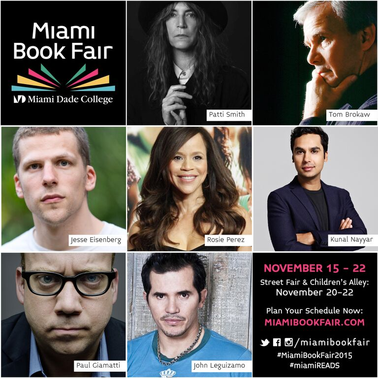 You do NOT want to miss Jessie Eisenberg and @kunalnayyar at #MiamiBookFair2015 this Sunday  https://t.co/cTVthH17Nu https://t.co/QsuemuaNDo