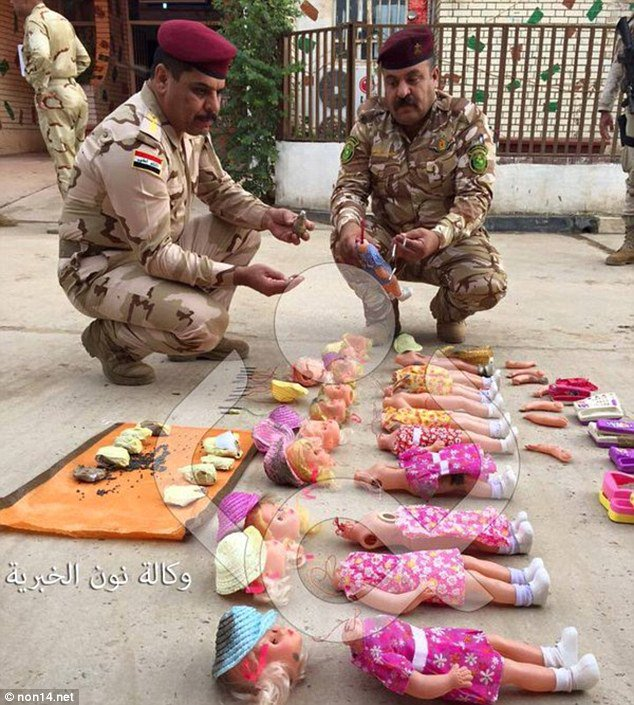 ISIS bombs hidden inside dolls and toys to kill CHILDREN, Iraqi military reveals https://t.co/9Uy7BD8jAK https://t.co/HHMEDLhL9d