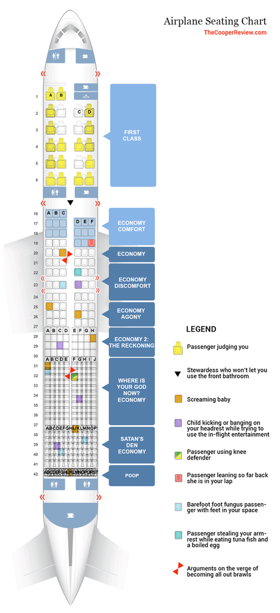 What would an honest airline seating chart look like? #Real #PaxEx https://t.co/EFh0IRMGNg h/t @jonnorrisphotog https://t.co/BYHsEErvif