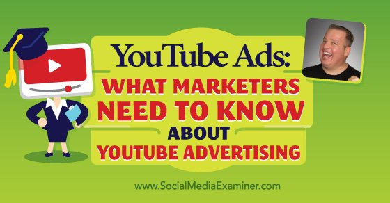 Social Media Marketing Podcast 172. In this episode Derral Eves will explore YouTube ads and https://t.co/ubpq7t3XWL https://t.co/wyhpiIwL3j
