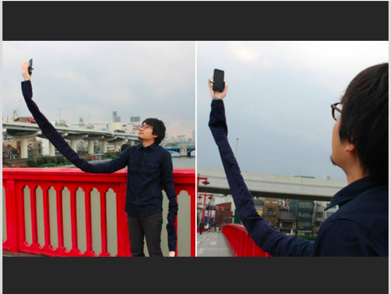 NO.  Man makes selfie arms to avoid being seen using selfie sticks https://t.co/j5SsYS6JnG via @LostAtEminor https://t.co/iTe1V1hUmn