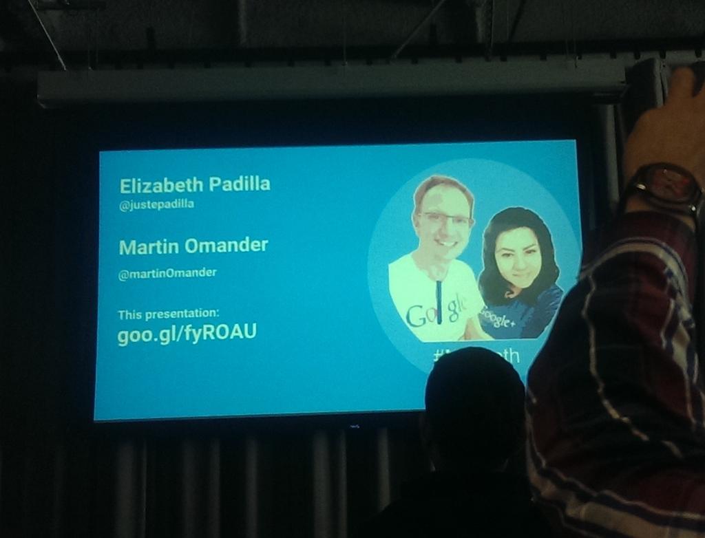Awesome session on public speaking by @justepadilla @martinomander.  Highlight of #GDESummit #marbeth @ShayUXD https://t.co/gjZFTlbZ2F