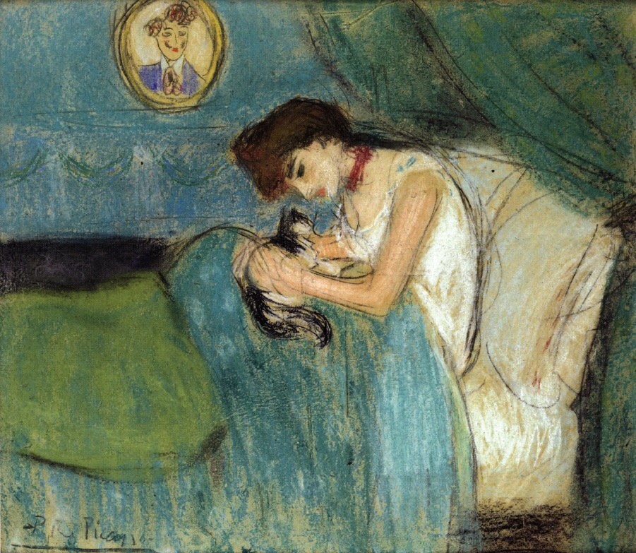 Woman with Cat Pablo Picasso, 1900 #art https://t.co/pSjGg78ifP https://t.co/cFLLrEwhof