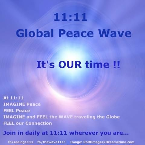 It's TIME for an 11:11 #Peace Wave ... Yes ? https://t.co/aJDzqEM2ET