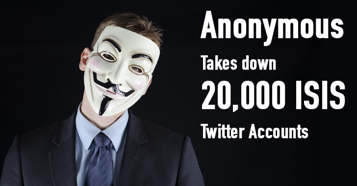 #Anonymous Hacking Group Takes Down 20,000 #ISIS Twitter accounts https://t.co/8BmuIlvFJu https://t.co/iEKrHKpnVV