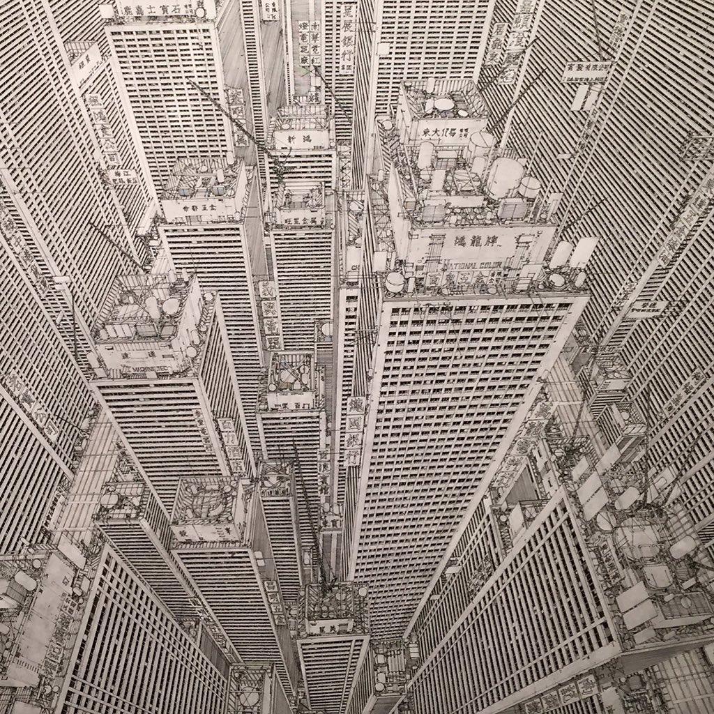 アキバタマビ21「捨象考」の田島さんの作品。この道に大友克洋さんという偉大なる先達がいるという事は分かりつつもやっぱり実物見ると密度がどうかしてた https://t.co/TtphyzxnEy
