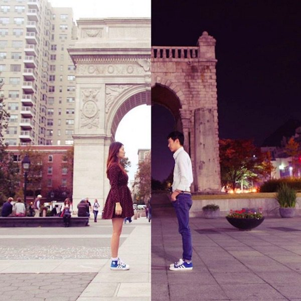 Una pareja, 2 ciudades, una cuenta en Instagram y ... el amor. Precioso proyecto fotográfico https://t.co/u97lX9srFs https://t.co/sP4Y2jDyFc