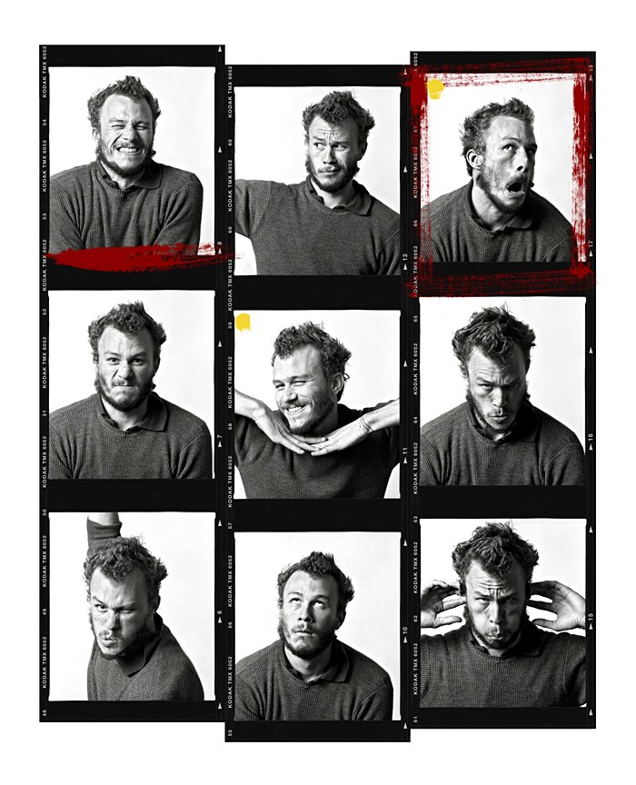 For all you #HeathLedger fans here is an unseen contact-sheet of my shoot with Heath. Such a fun loving guy. #missed https://t.co/8cEi4Jd5ui