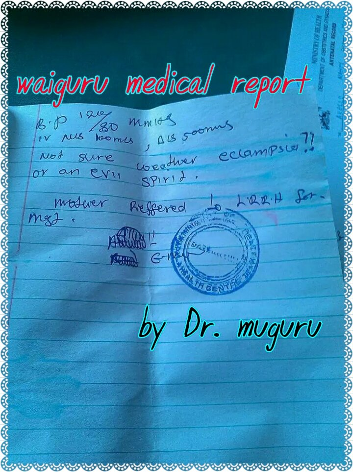 BREAKING: Finally waiguru's medical report has been revealed.. Kumbe She has been reffered. #WaiguruResigns ~> https://t.co/Fcl8uqWo3Z
