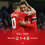 FULL-TIME: #MCFC 1-4 #LFC. Coutinho, Firmino and Skrtel add to Mangalas own goal to secure a huge win for the Reds. https://t.co/cUs0zniyXo