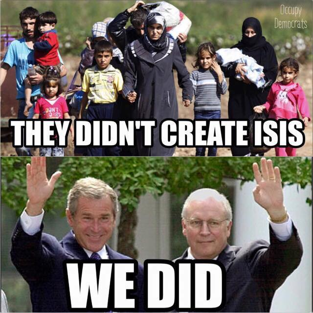 So DICK Cheney, wonder no more what your legacy is. #p2 #tcot #uspoli #cdnpoli #iraq #syria https://t.co/Z5GEwVtEBt