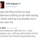 Hahahahaha.. I think Rishi Kapoor is too cool. His bluntness is refreshing and Inspiring :) @chintskap https://t.co/5lvnD3t9bu