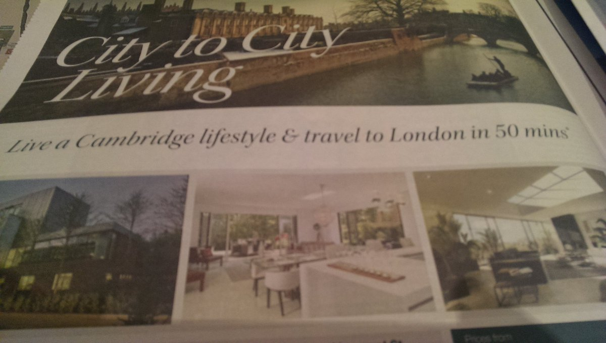 New homes in Cambridge being marketed to London commuters in today's Sunday Times https://t.co/0efsNDYb5w