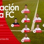 Once del #Sevillafc ante el @valenciacf, con @GrzegKrychowiak como capitán #vamosmisevilla #SFCvVCF https://t.co/zIYiWYTIfp
