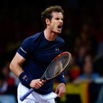 .@andy_murray wins second set 7-5! He leads 2-0. One set from a first Davis Cup since 1936! #BackTheBrits https://t.co/rTs4pd0O4T