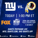 Sundays are for #GIANTS FOOTBALL! Todays broadcast info: https://t.co/cC83wdSt4v https://t.co/McZHnxUd30