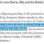 British Judge in 1885 gave the judgement that BabriMasjid was built after destroying RamMandir #IndiaWantsRamMandir https://t.co/6EQatvxoO0