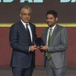 حصل الراحل عبد الله الدبل رحمه الله على جائزة ماسة آسيا في #حفل_الاتحاد_الاسيوي وتسلمها نجله فهد الدبل . https://t.co/b0gdXTMWgi