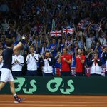 Come on! @andy_murray breaks and is now 2 games away from winning GB the @DavisCup! #BackTheBrits https://t.co/RqxlgKW7P2