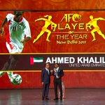 الإماراتي أحمد خليل حقق جائزة أفضل لاعب آسيوي شاب في عام 2008، و اليوم يحقق جائزة أفضل لاعب في آسيا 2015. https://t.co/20pWHHsB39