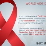#Cuba has eliminated mother to child transmission of #HIV & #syphilis https://t.co/IhuLrjcQTI https://t.co/7Rlxu5E7U5 #WorldAIDSDay