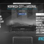 TEAM NEWS: Here is your @Arsenal team for #NCFCvAFC https://t.co/NHgI6B9gjy