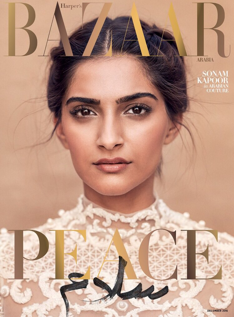 Peace سلام  | The #December issue preview: @SonamaKapoor wears @AshiStudio. #HarpersBazaarArabia #Peace #Salam https://t.co/1RB2ZnveK8