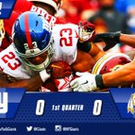 No score at the end of the first quarter. #Giants and Washington tied at zero. #NYGvsWAS https://t.co/jR7S11AvJd