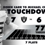 Thats a nice little scoring drive. #Raiders https://t.co/bBsPJHreqv