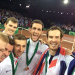 Time for a @DavisCup Champions #selfie! #BackTheBrits #HistoryMakers https://t.co/CifklKGXb3