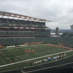 Todays view at Paul Brown Stadium for Rams-Bengals. Riverfront stadium that brings to mind the STL proposal... https://t.co/kZGXaQVm83