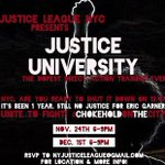 12/1: RSVP to #JusticeUniversity #directaction training in prep for #chokeholdonthecity https://t.co/hf4SehDymZ #nyc https://t.co/vWtbCN8ool