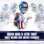 Hakeem Nicks is ACTIVE and will make his season debut! Heres todays list of inactives: https://t.co/N0RjTPPFt6 https://t.co/vdP4XsICco