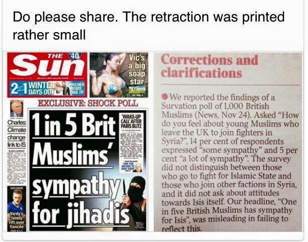 Did you notice this retraction in The Sun? https://t.co/gPwFjq6Zyf