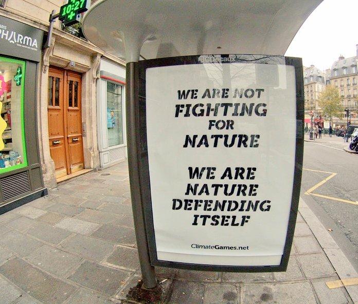 Fantastic streetart takeover for #cop21 #brandalism https://t.co/r9QysYfzS9 - nature defends herself https://t.co/82TJJGBik3