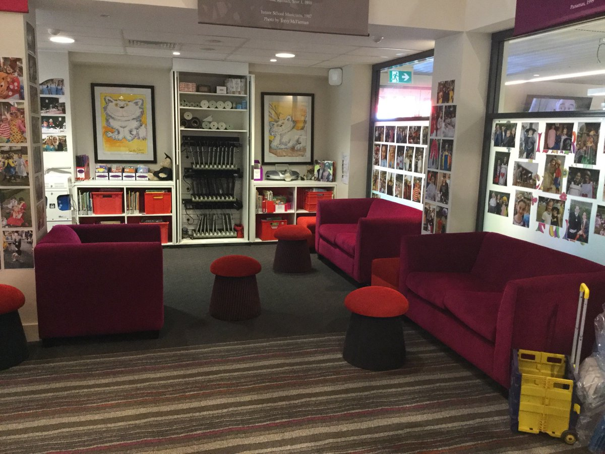 Junior School library at PLC Sydney. Reading is better when you have an #InspiringSpace #edtechteam #plcsydney https://t.co/YxmLXUAvJa