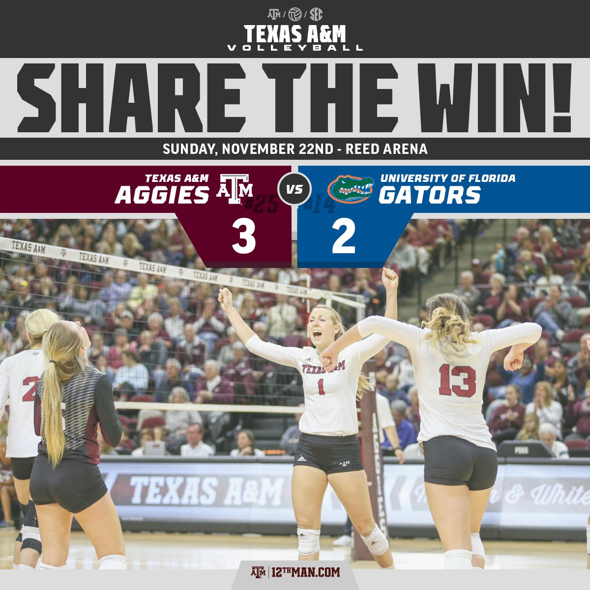 12 in a row for the #12thMan! #RTtheWIN https://t.co/1e2uY02Pi3