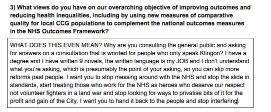 My response form to impenetrable&secretive #NHS consultation.Deadline's tonight. More here: https://t.co/WpR1VeL51M https://t.co/KYC6d7LGap