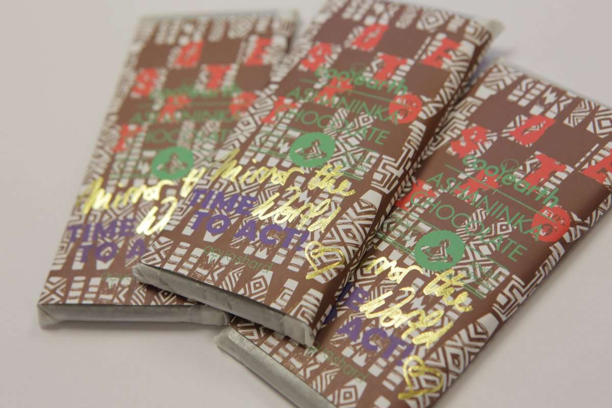 RT @coolearth: Cool Earth chocolate bars designed by @FollowWestwood are available to buy @aquashard or https://t.co/D5qtcz8WjH. https://t.…