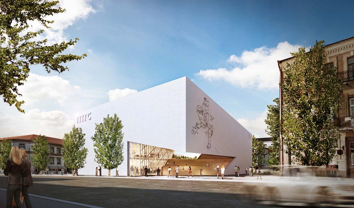 This morning @DanielLibeskind unveiled the design for a new contemporary art center in Vilnius, Lithuania https://t.co/Wqd6ZeslRg