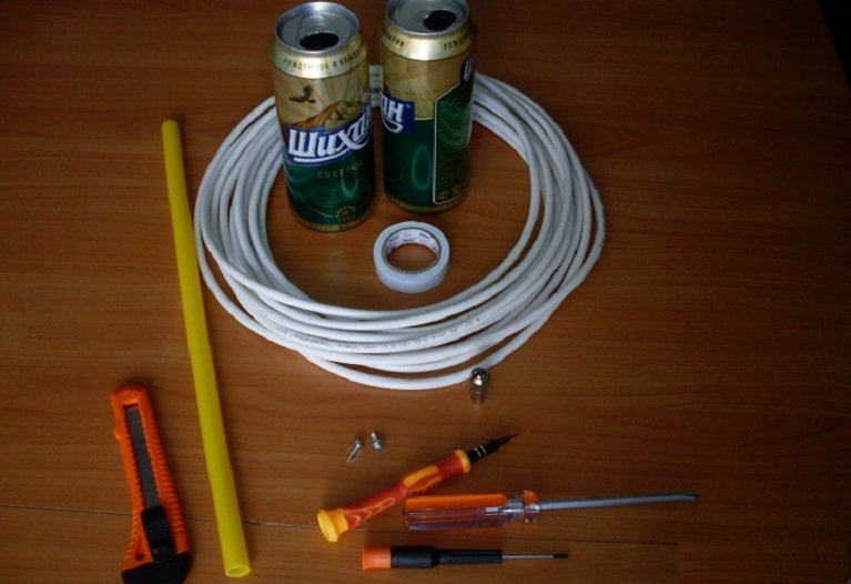 Как сделать антенну из банки пива
