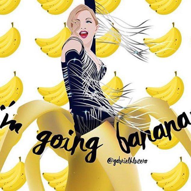 Going Bananas in Barcelona! ❤️ this!! ❤️ #rebelhearttour https://t.co/a5JGGONz96