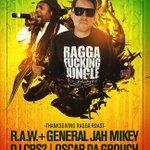 #Thanksgiving Ragga Roast - #TOMORROW : R.A.W @6BLOCC + General Jah Mikey, @DJCRS @odg @NOFACEDJ https://t.co/b9IekgzrsN