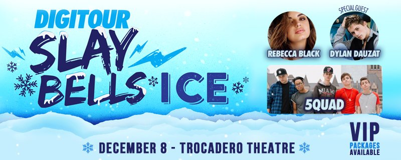 Limited VIP Meet & Greet tix released for @DigiTour Slaybells: ICE @ The Troc on 12/8. Tix: https://t.co/4BYRvuxk1u https://t.co/TGkbmkLYc7