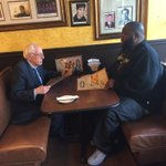 Bernie Sanders and rapper Killer Mike at Busy Bee in Atlanta. https://t.co/jqOiLlMgrQ