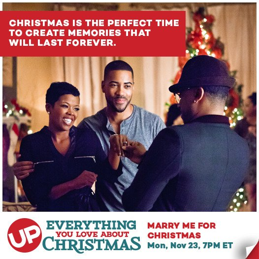 """What memories will you create this holiday season? Start by watching """"Marry Me For Christmas,"""" at 7. #ChristmasMovie https://t.co/oFzPTCAFVW"""