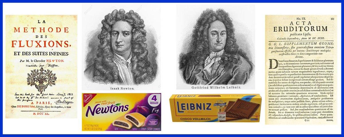 .@HistPhilosophy Cookies & Calculus :) #WhoInventedCalculus #SirIsaacNewton #GottfriedWilhelmLeibniz https://t.co/trvWZN7KED
